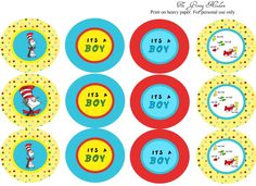 Dr. Suess party printables