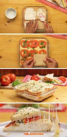Receita completa de sanduíche de forno!