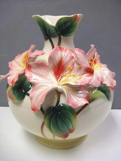 Franz Porcelain Mountain Orchid Vase 2756 | eBay
