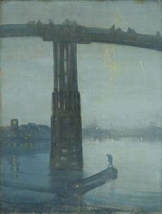 Nocturne: Blue and Gold - Old Battersea Bridge by James Abbot McNeill Whistler - Handmade Oil Painting on Canvas - American Paintings — Canvas Paintings Nocturne, James Abbott Mcneill Whistler, Tate Gallery, Monet Paintings, Famous Artwork, River Thames, Collaborative Art, Art Uk, Oil Painting On Canvas