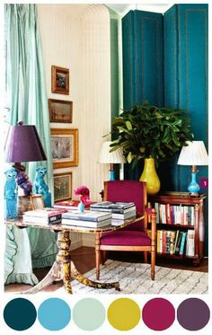 South Shore Decorating Blog: What I Love Wednesday: Beautiful, Cheery, Colorful Rooms