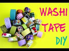 DIY Washi Tape - Fitas adesivas decoradas - YouTube