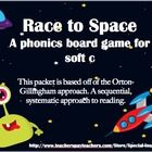 This packet includes: 1. soft c rule poster (space themed) 2. 2 game boards 3. 27 word cards 4. 9 game changer cards 5. game instructions  It is great for special educators, literacy centers, tutoring, etc.            Have a blast!    The graphics used in this packet are credited to http://www.teacherspayteachers.com/Store/Winchester-Lambourne