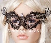 Wholesale Luxury graceful Metal Crown-shaped party Mask MA023-BK as party masquerade mask/wedding decorative