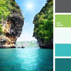 Color Palette. ocean colors, lime, greens