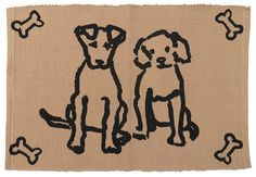 PB PAWS PET COLLECTION BY PARK B. SMITH Dog Friends Tapestry Indoor Outdoor Pet Mat Rug ** Read more reviews of the product by visiting the link on the image.