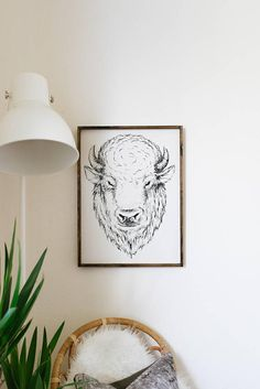Earl Buffalo Wood Sign Bison Decor Southwestern Decor farmhouse signs, rustic signs, fixer upper style, home decor, rustic decor, inspiring quotes, wood sign sayings, magnolia market, rustic signs, boho, boho style, eclectic living, living room inspiration, joanna gaines decor
