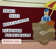 yerli-mali-haftasi-2016-2017-ilkokul1com-3 Rainbow Cartoon, Turkey Holidays, Little Duck, Class Decoration, National Holidays, Preschool Crafts, School Projects, Special Day, Ladybug