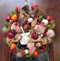 Delicieux Chefu0027s Cottage Kitchen Magnolia Wreath With By NewEnglandWreath, | Motheru0027s  Day Gift Ideas | Pinterest | Magnolia Wreath, Magnolia And Wreaths