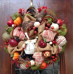 Happy Chef Kitchen Wreath
