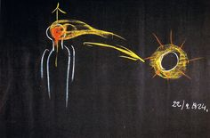 Rudolf Steiner's Chalkboard, relation of the sun and light to seeing