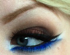 Brown and blue Arabic-inspired eyes