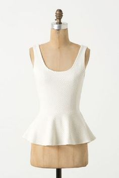 Peplum Ponte Tank, I know a few people that could rock this!