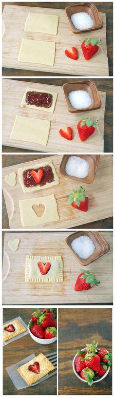 nutella, strawberries, love.