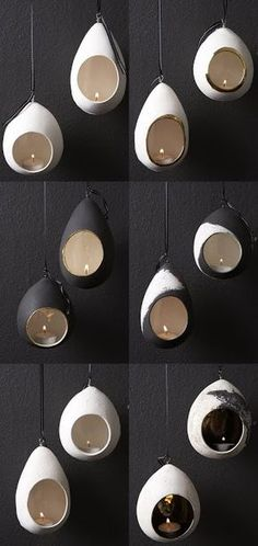 hand built pottery - hanging lantern ● Helen Vaughan ● throw a closed form, punch hole with can or cut freeform hole, poke some holes in the top, great raku possibilities! Ceramic Clay, Ceramic Pottery, Slab Pottery, Thrown Pottery, Ceramic Bowls, Pottery Wheel, Pottery Vase, Stoneware, Ceramic Candle Holders