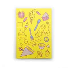 Picnic in Yellow A6 Greetings Card. There is nothing better then sitting in the sun on a lovely picnic rug and eating a triangle sandwich! #picnic #triangle #porkpie #sandwich #yellow #sun #greetingscard #emilyhayes #eh #design