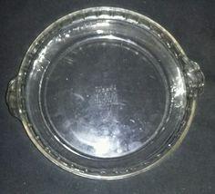 $6.96 229 PYREX Pie Plate Clear Crimp Edge Glass Deep Dish Pan 10  #Pyrex & $24.96 Lot 10 Clear Glass Luncheon Plates Sandwich Server Party Tea ...