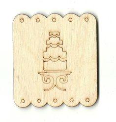 Wedding Cake Unfinished Laser Cut Wood Shape WDG9