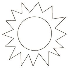 Free Printable Sun Cut Out Templates
