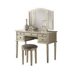 House of Hampton 2 Piece Vanity Set with Mirror & Reviews | Wayfair
