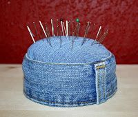 Denim Jean Pin Cushion      -   #crafts  #diy