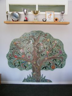 Greatfield School, Hatherley, Cheltenham - Tree of Life Mosaic Mosaic Projects, School, Life, Home Decor, Decoration Home, Room Decor, Schools, Mosaic Designs, Interior Decorating
