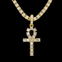 Cheap rhinestone pendants, Buy Quality egyptian ankh directly from China rhinestone cross pendants Suppliers: UWIN Ankh Necklace Egyptian Jewelry Hip Hop Style Iced Out Bling Rhinestone Key To Life Egypt Cross Pendant With Tennis Chain Ankh Necklace, Gold Pendant Necklace, Necklace Set, Pendant Jewelry, Gold Jewelry, Women Jewelry, Fashion Jewelry, Fashion Earrings, Jewelery