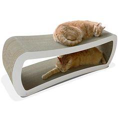 PetFusion Jumbo Cat Scratcher Bed (White)