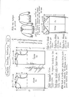 T Shirt Sewing Pattern, Pattern Drafting, Dress Sewing Patterns, Vintage Sewing Patterns, Clothing Patterns, Crochet Baby Jacket, Crochet Baby Clothes, Sewing Clothes, Crochet Cardigan