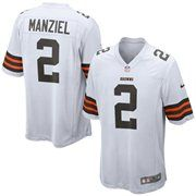 Johnny Manziel Cleveland Browns Nike 2014 NFL Draft #2 Pick Round 1 Game Jersey - White