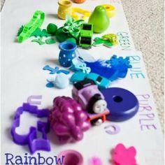 Rainbow Scavenger Hunt {Preschool}