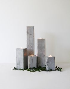 DIY Wood Candle Holders tutorial by Lindsay Stephenson These are great and could be used on so many occasions! Show off your great DIY project to your friends. Finish your project in a fun Varathane Stain color http://www.rustoleum.com/en/product-catalog/consumer-brands/varathane/varathane-fast-dry-wood-stain