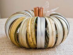 Canning Jar Ring Pumpkin-- So cute!