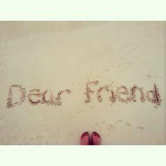 Dear friend #song #title #sand #beach #dear #friend