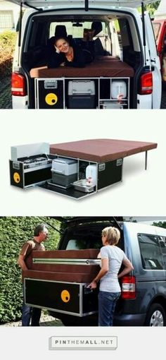 Great idea to diy for the folding bed! Then the rear seats can be used when not a bed!
