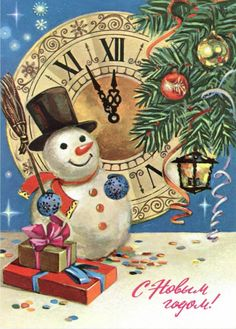 Charming vintage New Year's greetings! * For free Christmas toys Arielle Gabriels The International Society of Paper Dolls also free China and Japan toys The China Adventures of Arielle Gabriel *