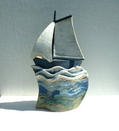Ceramics by Terri Smart at Studiopottery.co.uk - Breezing approx. 27cm high, 2007.