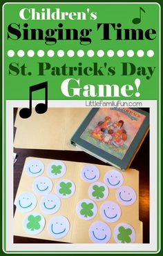 St. Patricks Day singing activity for kids! Great for Primary singing time. So easy and the kids LOVE it!