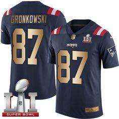 Nike Patriots  87 Rob Gronkowski Navy Blue Super Bowl LI 51 Men s Stitched  NFL Limited 0c7d91e271a