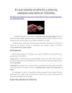 En qué consiste el cohecho y cómo es castigado este delito en Colombia