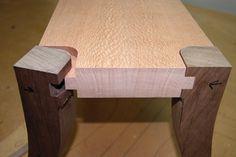 custom wood foot stool maloof joint