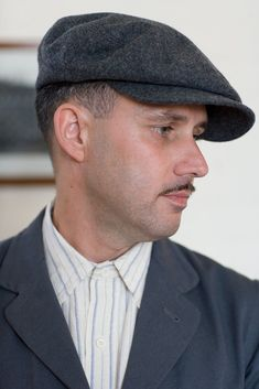 383b8732da1b5 Canvey Cap in Grey Wool Flannel Old Town Clothing