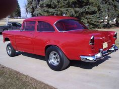 1955 Chevy Gasser with the Old School Red Plexiglass!