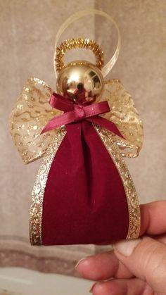 Christmas Angel Crafts, Diy Christmas Decorations Easy, Diy Christmas Ornaments, Christmas Projects, Christmas Art, Handmade Christmas, Holiday Crafts, Christmas Holidays, Theme Noel