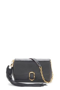 The Marc Jacobs J, Marc. Leather Shoulder Bag has gilded touches on luxurious…