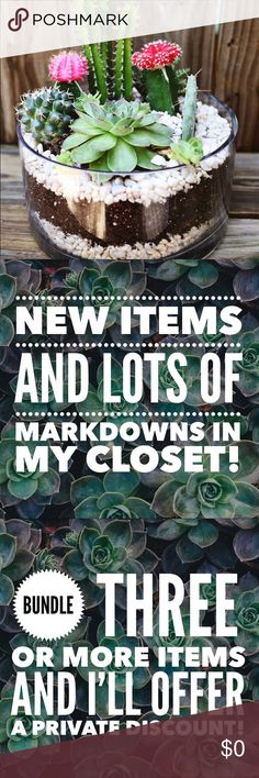 New items and markdowns!! Thanks for visiting my closet!!                                               🌵Bundle three or more items - I'll offer a discount!!         🌵I love reasonable offers!! Try me!! Other