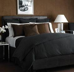 Amazon.com: Lauren by Ralph Lauren Bedding, Modern Driver Charcoal Stripe Bedskirt; KING: Home & Kitchen