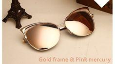 Item Type: Eyewear Eyewear Type: Sunglasses Department Name: Adult Gender: Women Style: Cat Eye Lenses Optical Attribute: Mirror Frame Material: Alloy Frame Color: White Frame Color: Black Frame Color