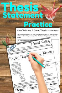 I've been told the thesis is the most important part of any paper. Useful for teaching how to develop an argument into a statement. Argumentative Writing, Persuasive Writing, Teaching Writing, Essay Writing, Thesis Writing, Writing Paper, Teaching English, Writing Strategies, Writing Lessons