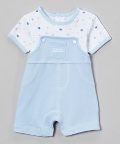 Take a look at the Zip Zap Blue Star Romper - Infant on #zulily today!